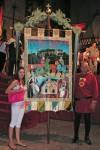Palio 2008, sulla sinistra l'artista Romina De Virgilis. Cliccare per ingrandire