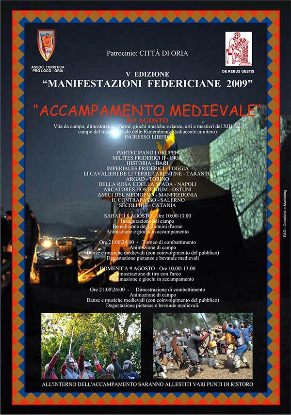 Accampamento Medievale di Oria edizione 2009.