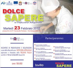 Dolce Sapere serata dedicata allla pasticceria artigianale a Francavilla Fontana