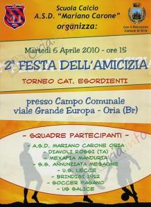 Festa dell'Amicizia 2010 - Scuola Calcio Mariano Carone di Oria