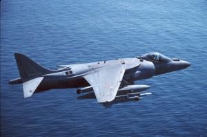 Un aereo Harrier AV8