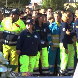 Alcuni operatori di Protezione Civile