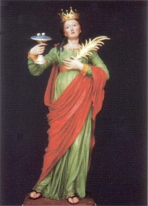 L'effigie di Santa Lucia venerata a Oria