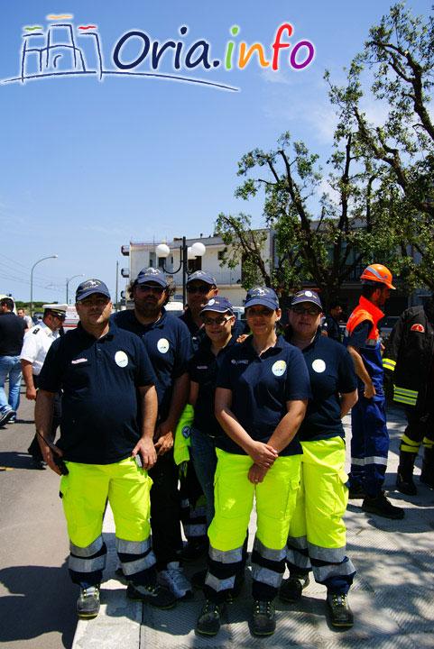 Alcuni volontari di Protezione Civile di Oria