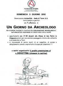 Un giorno da archeologo - Archeoclub Torre Santa Susanna
