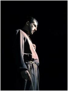 Andrea Caniglia interpreta Francesco (foto F. Ancora)