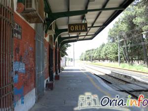 La stazione ferroviaria di Oria