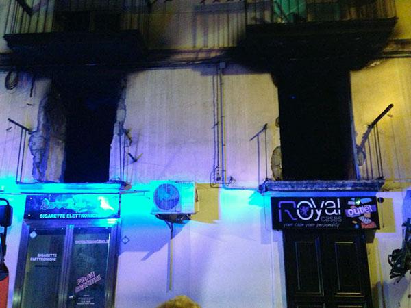 L'abitazione esplosa, foto tratta da Facebook