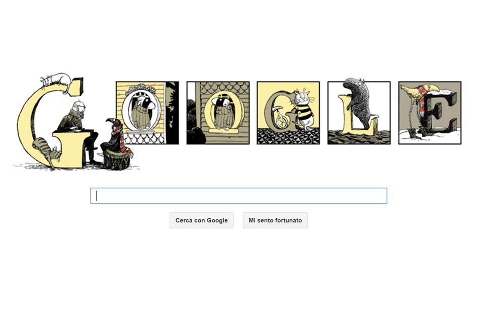 Edward Gorey, il nuovo doole di Google - Tratto da Google.it