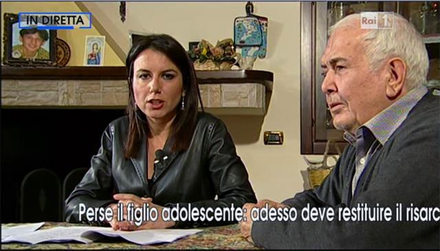 Franco De Nuzzo, padre di Mario, intervistato dalla Vita in Diretta
