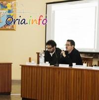 Da sinistra: Giuseppe Modeo e Alessio Carbone, giovani architetti oritani