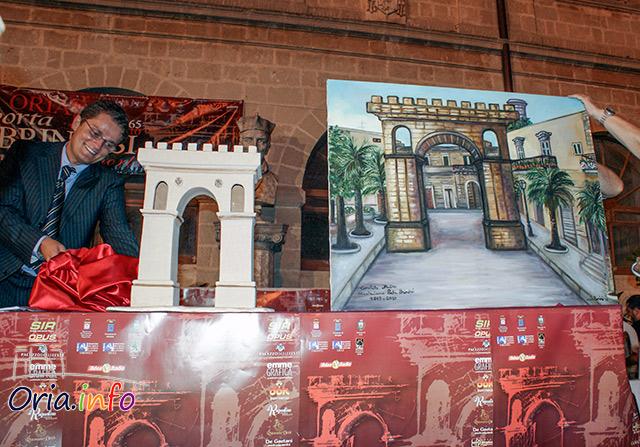 Il neo-assessore Durante, mentre presentava il suo modello di Porta Brindisi