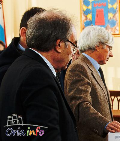 Il sindaco Cosimo Pomarico e il segratario generale