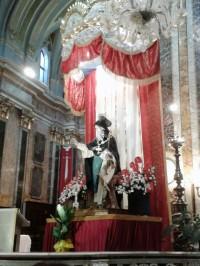 L'effigie di San Barsanofio nella Basilica Cattedrale di Oria, agosto 2013