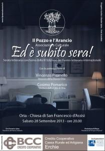 Manifesto Premio Il Pozzo e l'Arancio 2013
