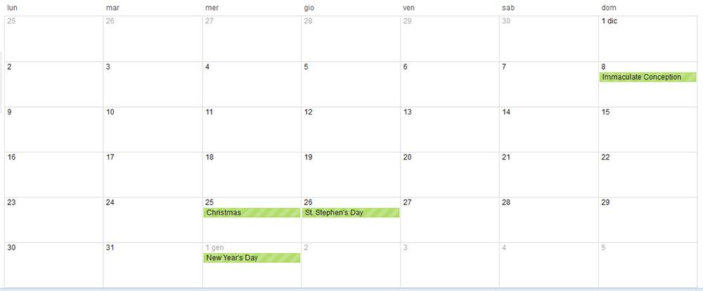 Quando è Natale 2013? Il giorno della settimana consentirà un ponte oppure no? Scopri tutti i giorni delle festività di quest'anno