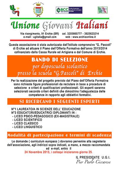 unione-giovani-italiani-erchie-bando