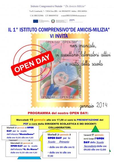 Open Day De Amicis Milizia