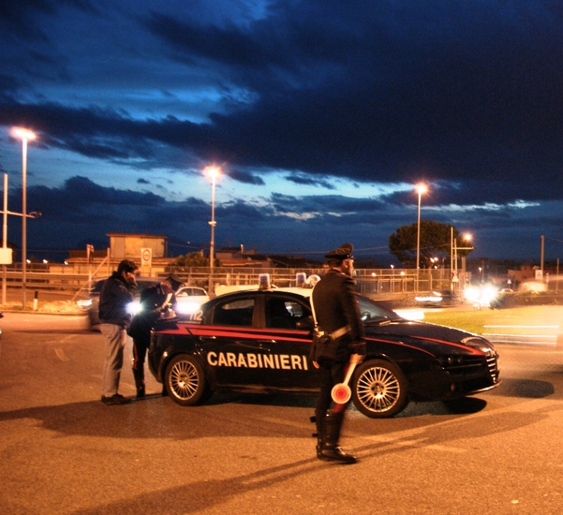 Un posto di blocco dei Carabinieri (Foto di repertorio)