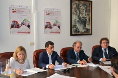 La presidente FISB Palumbo, l'assessore leccese Monosi, il sindaco Pomarico e l'assessore Zanzarelli