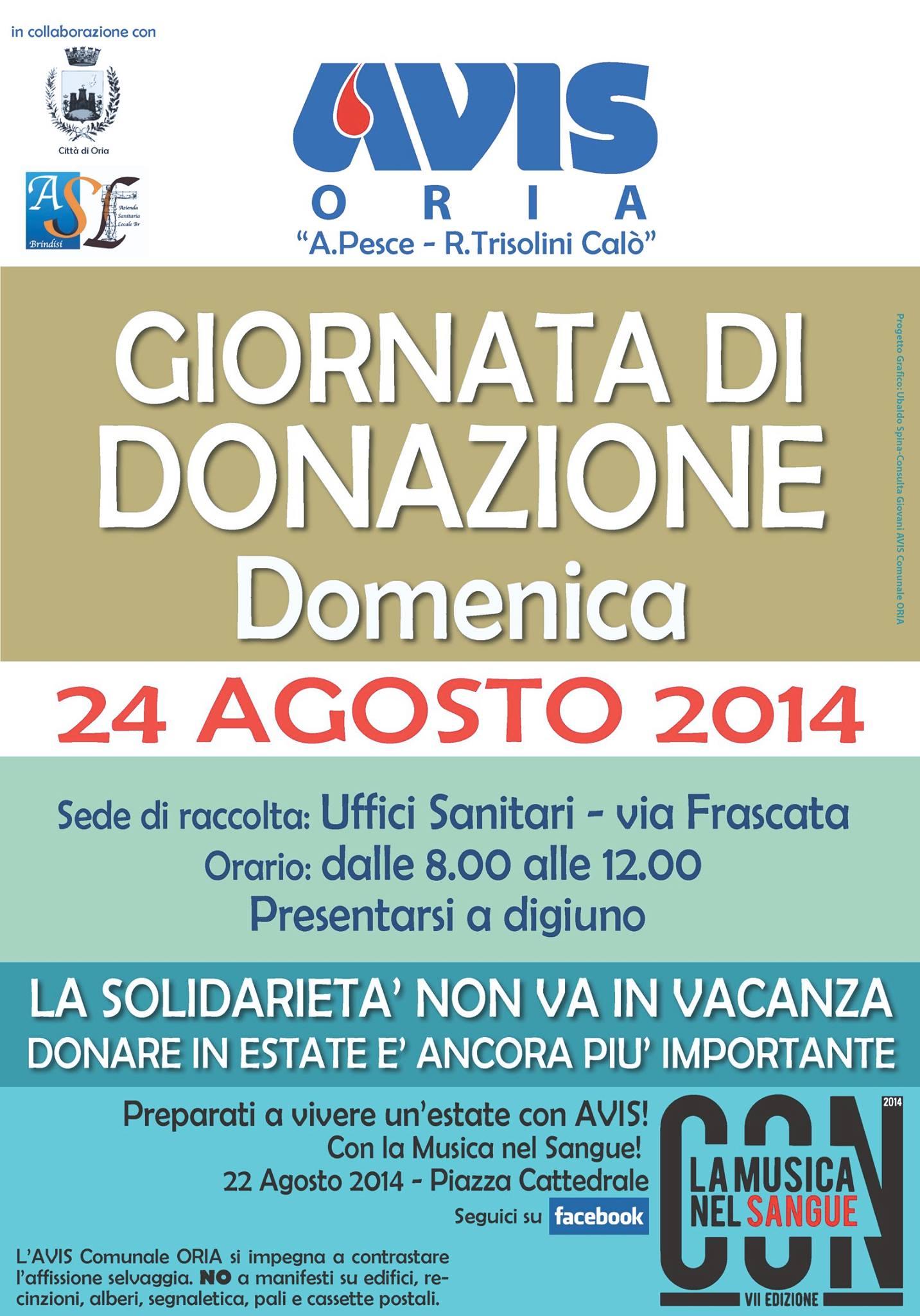 AVIS_ORIA_DONAZIONE_24AGOSTO2014