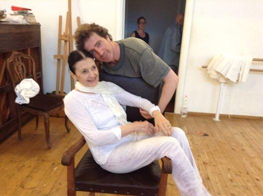 Carla Fracci e il ballerino di origine oritana Toni Candeloro