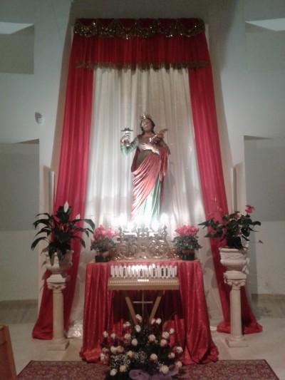 L'effige di Santa Lucia nella chiesa di San Barsanofio