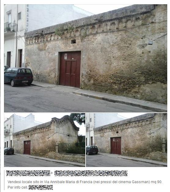 Oria in vendita chiesa di san sebastiano mille anni di for Due garage di storia in vendita