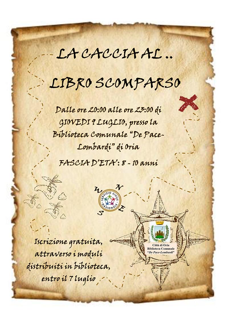 locandina_LA_CACCIA_AL_LIBRO_SCOMPARSO