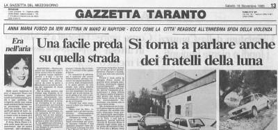 Dalla Gazzetta del Mezzogiorno del 19 novembre 1983