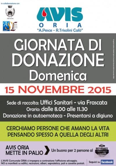 avis donazione novembre 2015
