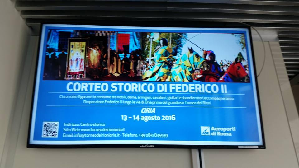 Foto gentilmente scattata e condivisa su Facebook dal sig. Mario A., presso l'aeroporto di Fiumicino