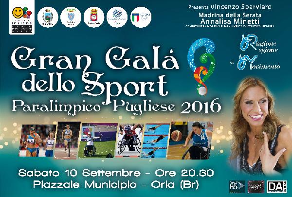 Oria: stasera il Gran Galà dello Sport Paraolimpico